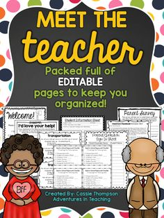 meet the teacher night Do you get a little stressed thinking about all that back to school paperwork? It can be such a pain to try and remember all the different forms to send hom Teacher Organization, Teacher Tools, Teacher Stuff, Resource Teacher, Teacher Resources, Back To School Night, Welcome Back To School, Teaching Character Traits, Curriculum Night