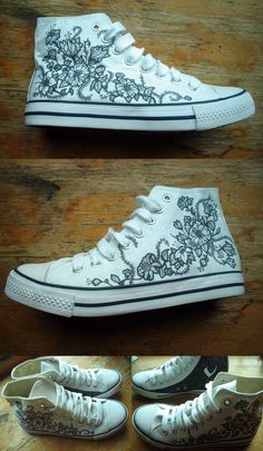 zapatillas Painted Canvas Shoes, Custom Painted Shoes, Hand Painted Shoes, Custom Shoes, Outfits With Converse, Converse All Star, On Shoes, Me Too Shoes, Espadrilles