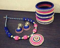 Pink and Blue Silk Thread Full set