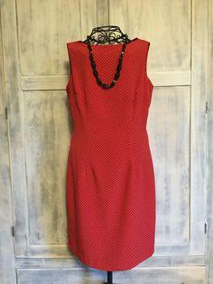 Red Vintage Polka Dot Dress by VintageNerdBoutique on Etsy