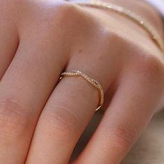 14K Yellow Gold The Dainty Diamond Twist Eternity Ring | Princess Bride Diamonds