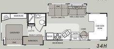 Rv 2 Bathroom Floor Plans Class A Motorhomes With