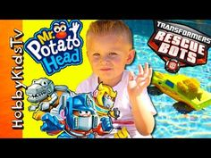 RESCUE BotsTransformers! Mixable Mashable HEROES + Hydrovers Pool Ride H... Superhero Shows, Rescue Bots, Racing, Running, Auto Racing