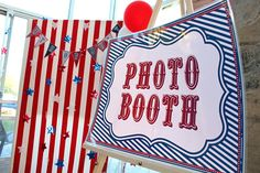 Photo booth party Large Poster -PRINTABLE DIGITAL customizable poster circus, birthday, 4th of july, election via Etsy Circus Birthday, Circus Theme, Circus Party, Circus Circus, Birthday Gift For Wife, Girl Birthday, July Birthday, Birthday Ideas, 4th Of July Party