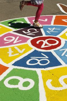 numbers colours paint · play at street