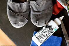 how to repair your favorite pair of Toms...when you're just not ready to give them up quite yet!