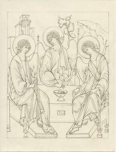 Religious Icons, Religious Art, Writing Icon, Paint Icon, Byzantine Icons, Catholic Art, Orthodox Icons, Sacred Art, Coloring Book Pages