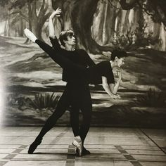my ballet instructor has all these amazing ballet history books in her studio, all loaded with interviews and photos of old iconic dancers. these photos are from a biographical book about ballet legends rudolf nureyev and margot fonteyn. i'm currently very obsessed. ❤️✨ @pacificballetstockton - - - #ballet #history #margotfonteyn #rudolfnureyev