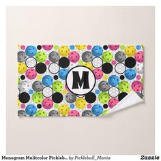 Monogram Mulitcolor Pickleball Sweat Towel