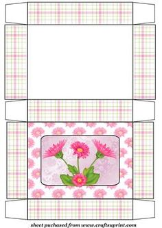 Pink gerbera gift box on Craftsuprint designed by Stephen Poore -