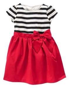 Olivia Striped Dress at Gymboree. Catalina's outfit for PNBs Nutcracker inaugural year?
