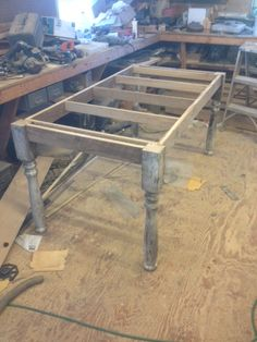 """6'x40"""" harvest table ready for a top"""