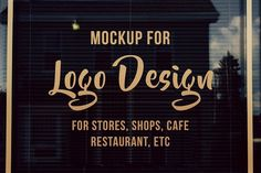 Storefront / Window Logo Mockup by Riopurba Collection on Creative Market