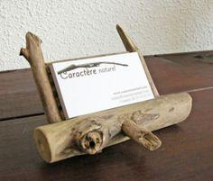 Petit présentoir en bois flotté par Benoit Galloudec -  http://www.caracterenaturel.com