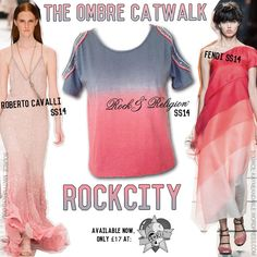 The #ombre #trend has been seen across #SS14 #catwalks and it's VERY exciting and we've got you covered with our ROCKCITY top! It has a unique cut out shoulder and #embellishment. A #Summer MUST HAVE!  Available now at: @rokiishop Get it now: http://www.rokii.co.uk/en/womens/1184-rock-religion-rock-city-ombre-cold-shoulder-top-in-grey-and-orange.html