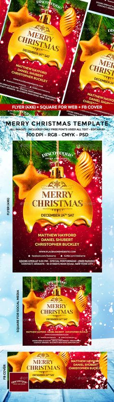 Christmas Flyer. Download: https://graphicriver.net/item/christmas-flyer/18710835?ref=thanhdesign