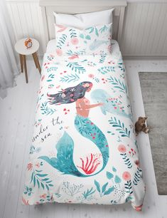 Spotted - P&C at M&S — Paper & Cloth Design Studio. Girls Queen Bedding, Girls Bedding Sets, Teen Bedding, Crib Bedding Sets, Comforter Sets, Cotton Bedding, Beds For Kids Girls, Girls Twin Bed, Little Mermaid Bedroom