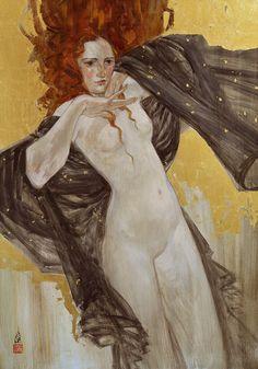 "Salome, Oil on Canvas, 28""x38"" Paintings - Rebecca Léveillé-Guay"