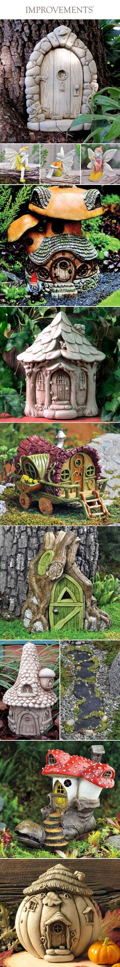 Searching for backyard ideas to freshen up your foliage this spring? Just mix some magic into your lawn with these fairy garden statues. We offer several varieties ranging from quaint little cottages to mini fairy gardens, so you can even create your own little village. This collection starts at just $19.99. #SmallGardenIdeas