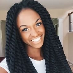 These long rope twists: | 17 Women Who Prove Crochet Braids Are The Perfect Summer Hairstyle