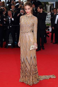 Barbara Palvin in Valentino Couture, Cannes