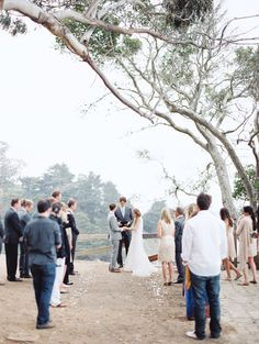 I love the idea of having guests stand during the ceremony if it's a small, informal, short wedding ceremony.