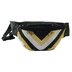 CTM Mesh Sequin Fanny Pack V Pattern. Two zippered pockets $19.95