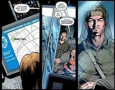 Olicity Panel 4 from Arrow Season 2.5 digital comics - Chapter 2