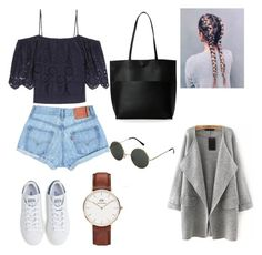 """Love it❤"" by www-krawolle on Polyvore featuring Mode, Ganni, Street Level, adidas und Daniel Wellington"
