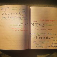 Brainstorming in Color: What does it mean to explore bodymind freedom?