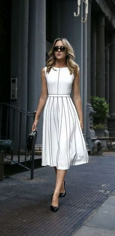 10 Sophisticated Work Attire and Office Outfits for Women to Look Stylish and Ch. - - 10 Sophisticated Work Attire and Office Outfits for Women to Look Stylish and Chic – Lifestyle Spunk Source by Mode Outfits, Fashion Outfits, Fashion Women, Dress Fashion, Latest Fashion, Trendy Fashion, Cheap Fashion, White Fashion, Trendy Style
