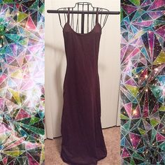 ☄ Brown backless sexy maxi dress 95% Rayon 5% Spandex. *NEW IN BAG* NO TRADE  LET'S BUNDLE!!!!  Boutique Dresses Maxi