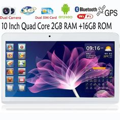 10 Inch Original 3G Phone Call Android Quad Core Tablet pc Android 4.4 2GB RAM 16GB ROM WiFi GPS FM Bluetooth 2G+16G Tablets Pc