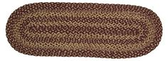 Burgundy Tan Jute Runner 13x48 - Runner measures 13x48