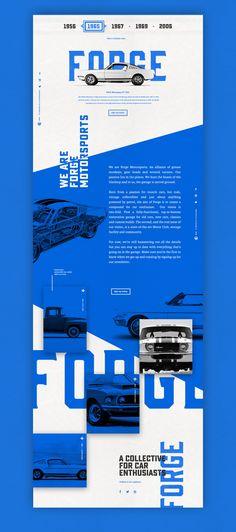 Forge Final Underscore (Blue) – Ui design concept by Nick Franchi. Forge Final Underscore (Blue) – Ui design concept by Nick Franchi. Pop Design, Design Lab, Cool Web Design, Web Design Mobile, Web Mobile, Web Ui Design, Web Design Company, Blue Design, Vintage Web Design
