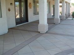 Decorative Patio Tiles Amazing Decorative Diagonal Tile In Front Entrywayconcrete Art Design Inspiration