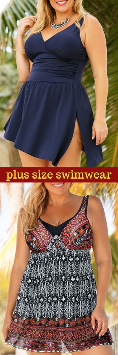 Plus Size Fashion : Cute Plus Size Swimsuits for curvy girls ~ Find latest plus size swimwear trends at Liligal, cute&comfy for curvy girls, high Cute Plus Size Swimsuits, Women's Plus Size Swimwear, Trendy Swimwear, Plus Size Bikini, Cool Outfits, Summer Outfits, Fashion Outfits, Fasion, Sexy Bikini