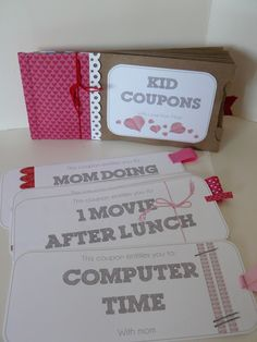 Diy Coupon Book For Daughter  Template From Other Source This