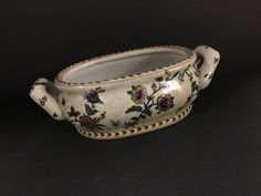 Heavy #Compote Dish, #Floral, Artificial Crazing, Antique #Finish, Gorgeous, Vint,  View more on the LINK: 	http://www.zeppy.io/product/gb/3/235078115/