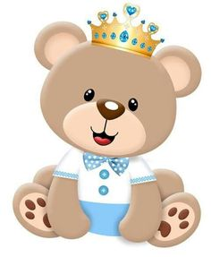Baby bear with crown