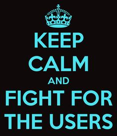 Or if you're a User, fight for the Programs! ♥
