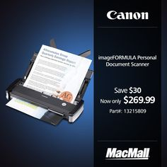 #BackToSchool Sale: Save $30 on a #Canon personal document scanner at MacMall.