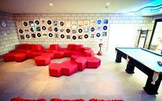 Área de descanso para funcionários do Google em São Paulo