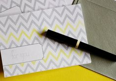 Yellow, grey & chevron. Some of my favorite trends all in one free printable card.