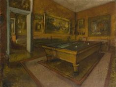 Billiard Room at Ménil-Hubert1892. Edgar Degas | Musée d'Orsay, Paris
