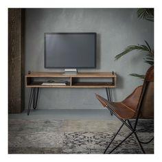 Bali - Tv-bord i massiv akacietræ Tv Regal, Tv Board, Melbourne, Tv Furniture, Tv Cabinets, Tv Unit, Vintage Tv, Accent Chairs, Interior