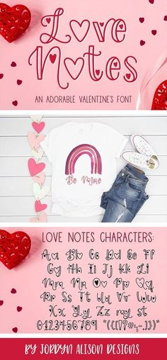Introducing Love Notes, a fun and adorable Valentine's Font for Crafters! Use it for Valentine's Day Cards, decor, shirts, and more! #cricut #silhouette #font #crafters #valentines #craft #children #kids #cute #cricutfont *affiliate link: your purchase price stays the same, but if you decide to purchase I get a small percentage of the cost. Tattoo Fonts Cursive, Ttf Fonts, Hand Lettering, Valentine Day Cards, Valentines Font, Doodle Fonts, Pretty Fonts, Wedding Fonts, Cricut Fonts