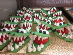 Saw these alligator cookies at Giant and fell in love. Can't wait to let my little one pick out a treat while grocery shopping