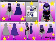 Raven (Teen titans) papercraft by Antyyy.deviantart.com on @DeviantArt