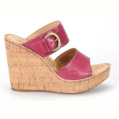 pretty in pink.  The Born Zee cork wedge.  #shoes